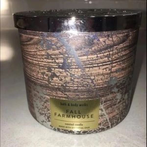 BBW Fall Farmhouse 3 Wick Candle